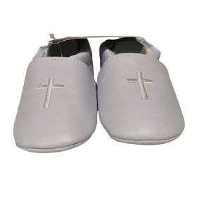 White Christening Baptism Booties Shoes Slippers